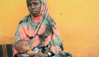 you give a life-saving treatment to a malnourished child in Somalia