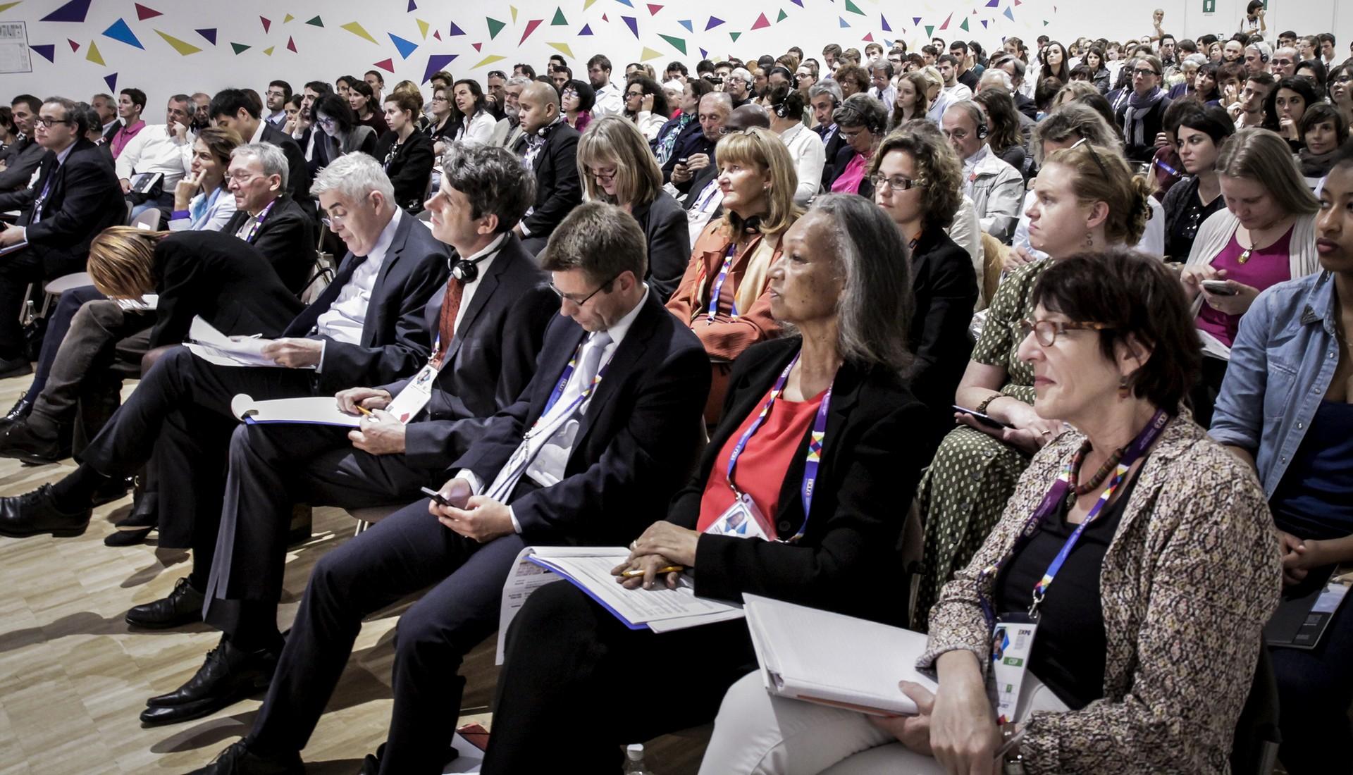 Presentazione dell'Indice Globale della Fame a Expo 2015. Ph. Dario Mastrocola.